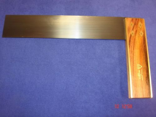 "Joseph Marples TRIAL T12 Rosewood Carpenters Try Square 310mm 12"" Brass Sheffield"